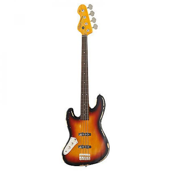 Custom VINTAGE ICON FRETLESS BASS- SUNBURST- L/H #1 image