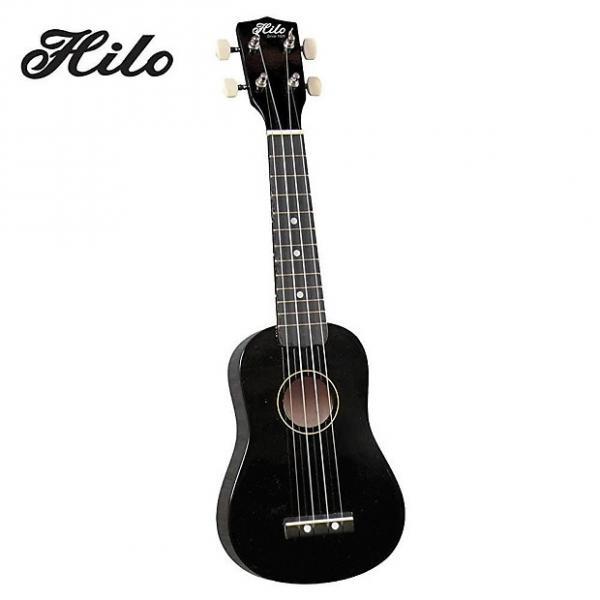 Custom Hilo Ukuleles 2500BK Soprano Ukulele - Black #1 image