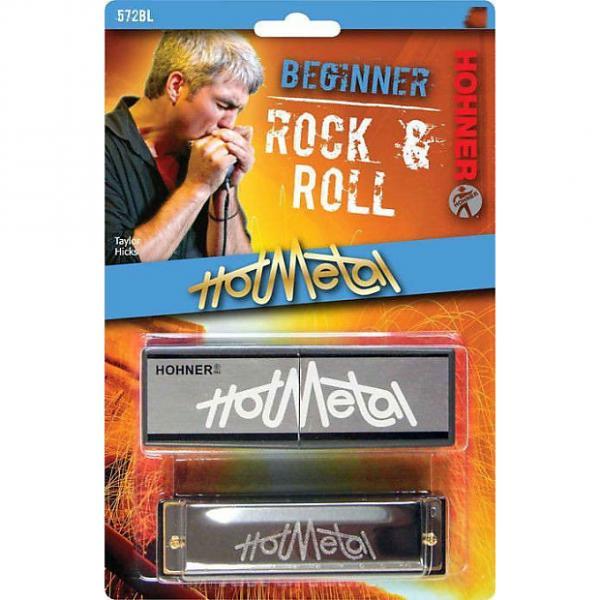 Custom Hohner 572BL Hot Metal Harmonica - Key of G #1 image