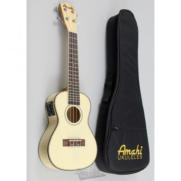 Custom Amahi UK550C Classic Flamed Maple Concert Ukulele - With Electronics #1 image
