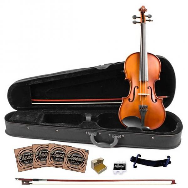 Custom Rise by Sawtooth Student Violin with Carved Solid Spruce Top & Maple Back and Sides, Full Size #1 image