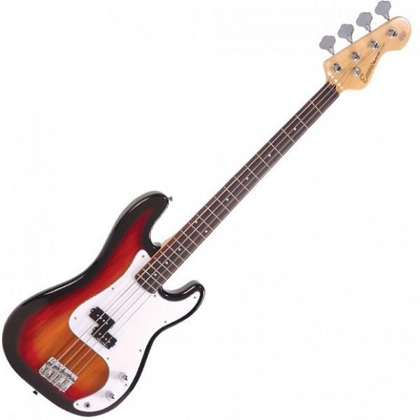 Custom Encore E4 Bass Guitar Outfit, Sunburst #1 image