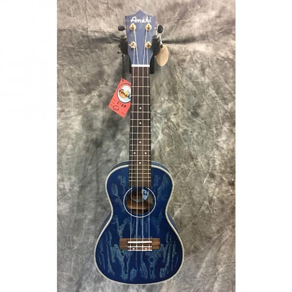 Custom Amahi C-23 Blue Concert Ukulele #1 image