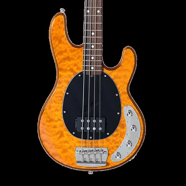 Custom Sterling by Music Man Ray34 Quilt Maple Bass - Antique Maple with Gig Bag #1 image