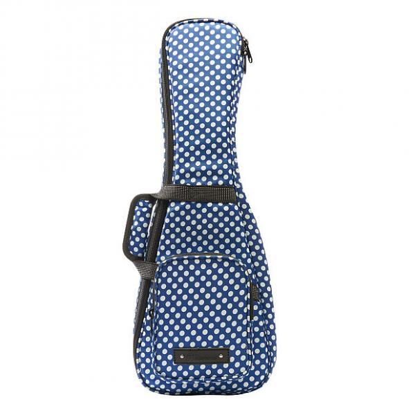 Custom Beaumont Stylish Blue Polka Dot Soprano Ukulele Bag - Padded Designer Case #1 image