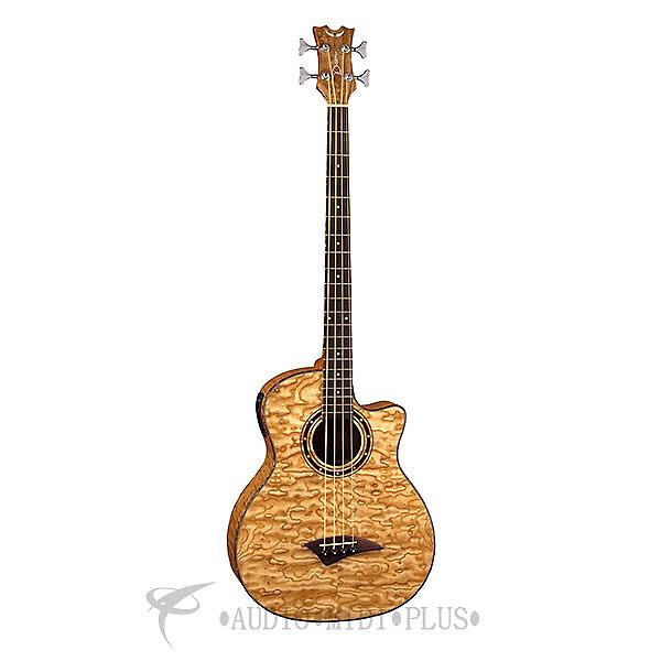Custom Dean Guitars Exotica Quilted Ash 4 Strings Acoustic Electric Bass Natural - EQABAGN-U - 819998116095 #1 image