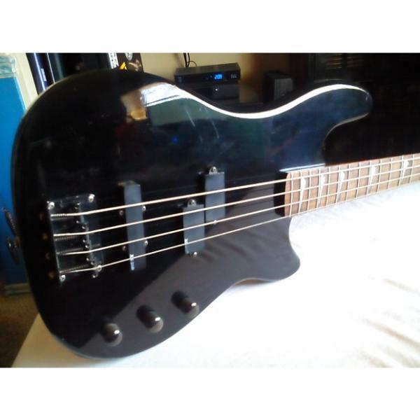 Custom Ultra Rare 1987 Vintage Ovation Celebrity BC-2 Solid Body Bass Guitar (Black) With RR Gig Bag #1 image