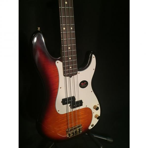 Custom Fender 50th Anniversary American Precision Bass 1996 Sunburst Flame Top Closet Classic #1 image