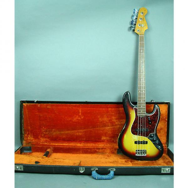 Custom Fender  Jazz Electric Bass Guitar Vintage American Sunburst Finish w/OHSC 1966 Sunburst #1 image