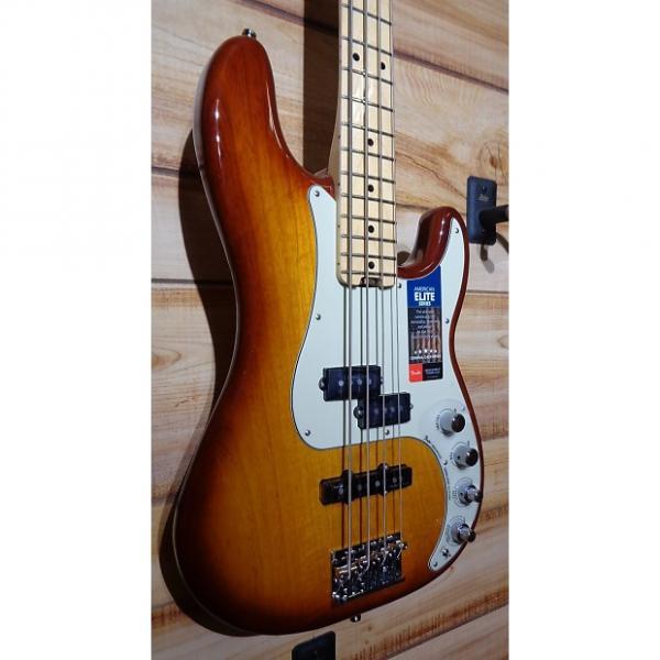 Custom New Fender® American Elite Precision Bass® Maple Fingerboard Tobacco Burst w/Case #1 image