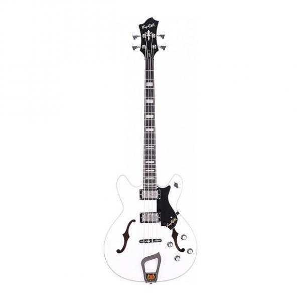 Custom Hagstrom Viking Bass White 4-String Semi-Hollow Bass #1 image