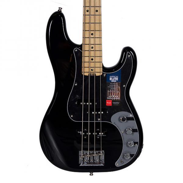 Custom Fender American Elite Precision 4 String Bass Black w/Case #1 image