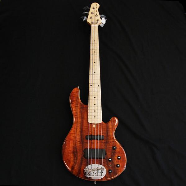 Custom Lakland  USA 55-94 Custom Deluxe AAA Koa 5 String Bass #1 image