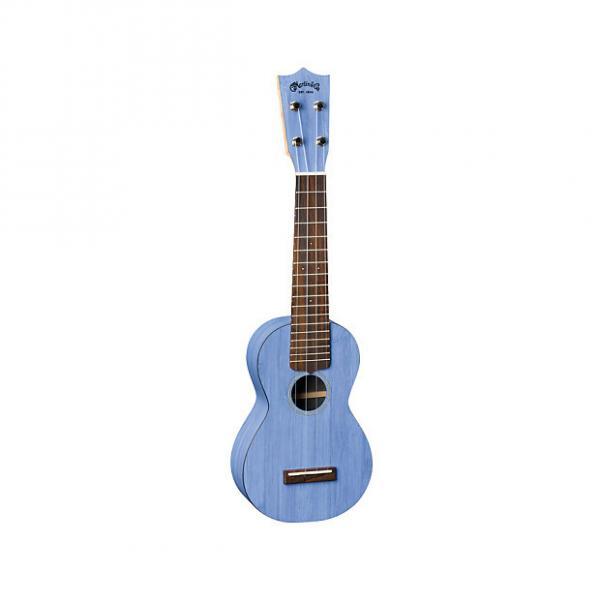 Custom Martin 0X Uke Bamboo Soprano Ukulele with Gigbag - Blue #1 image