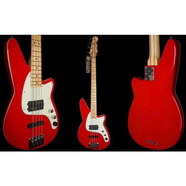 Custom Reverend Decision Bass Party Red 4 String Electric Bass Guitar #1 image