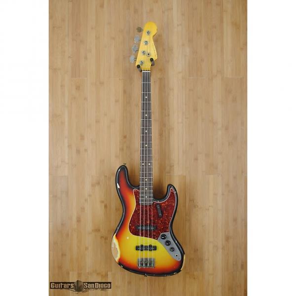 Custom Nash JB-63 4 string bass guitar Three Tone Sunburst #1 image
