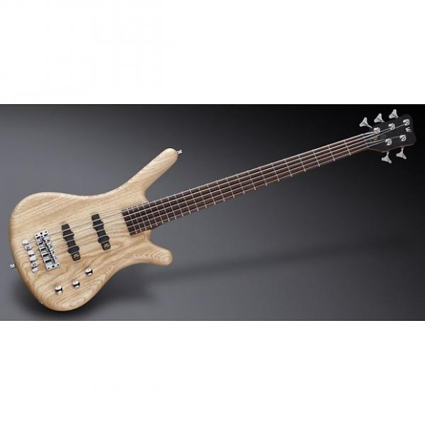 Custom Warwick WGPS Corvette Ash 5 Natural Transparent Satin Fretted active Chrome Hardware, Free Shipping #1 image