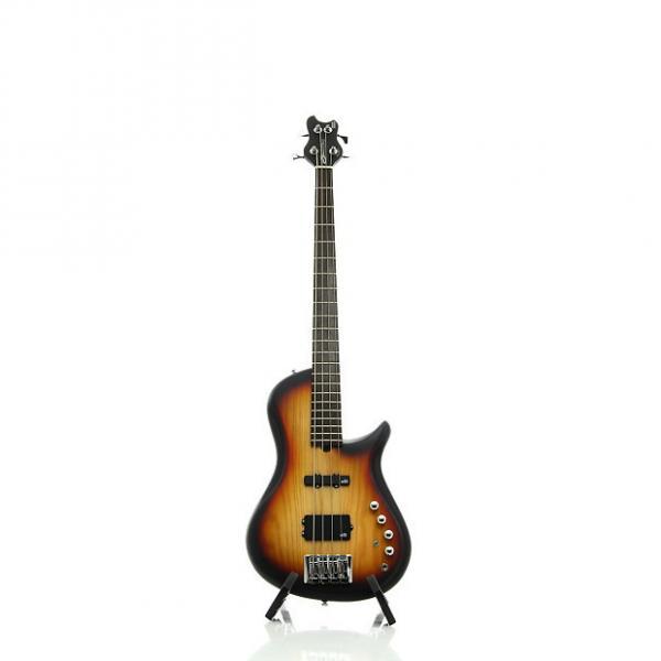 Custom Brubaker Brute Series Single-Cutaway 4-String Bass Guitar Tobacco Burst #1 image