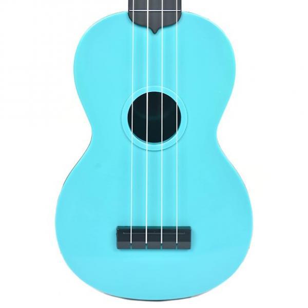 Custom Makala Waterman Composite Soprano Ukulele Solid Blue #1 image