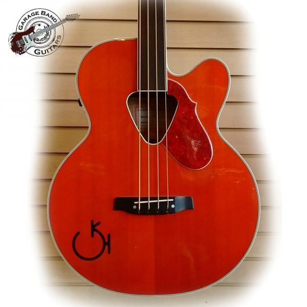 Custom Gretsch Acoustic/Electric Fretless Bass- G6176 -Orange #1 image