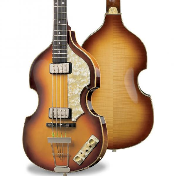 Custom Hofner Mersey bass 62 Sunburst with hardcase #1 image