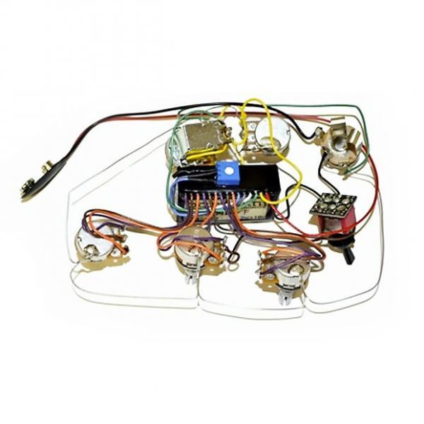 Custom Bartolini 5.3AP Compact Preamp 2-Pickup 5-Knob 1-Switch 3-Band Vol P/P A/P - Vol - Treb - Mid - Bass - Mid Sw #1 image