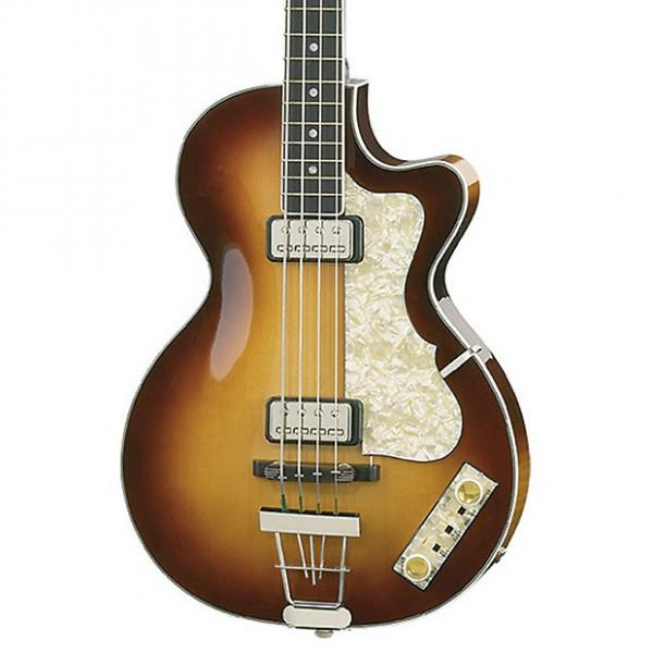 Custom Hofner Club Bass H500/2 Sunburst with hardcase #1 image
