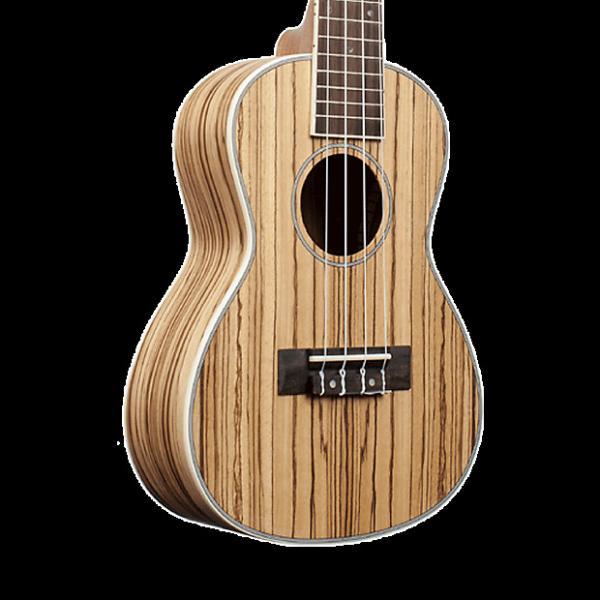Custom Amahi UK330S Classic Zebrawood Ukulele - Soprano with Gig Bag #1 image