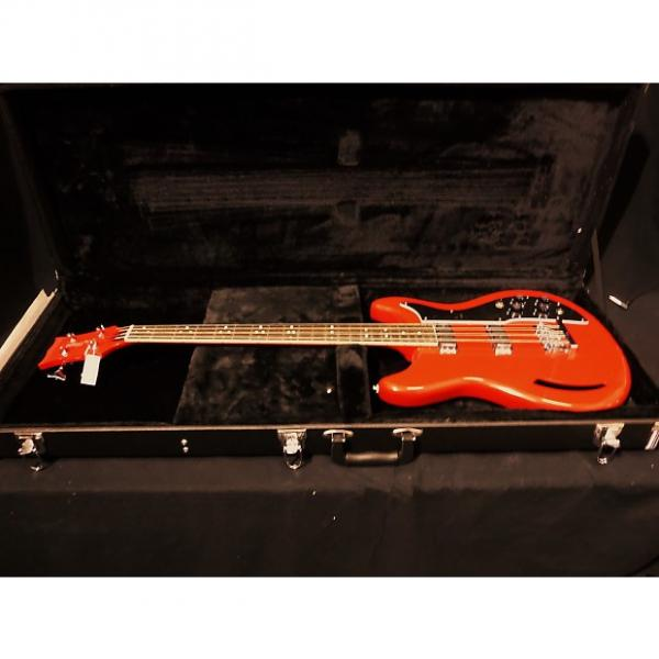 Custom Eastwood K-200 Electric Bass Guitar in Red & Case #1042 #1 image