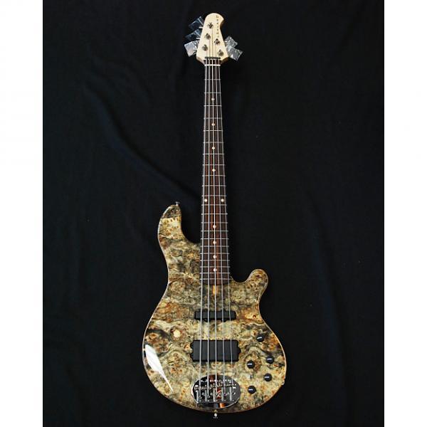 Custom Lakland  USA 55-94 Custom Deluxe Buckeye Burl Maple 5 String Bass #1 image