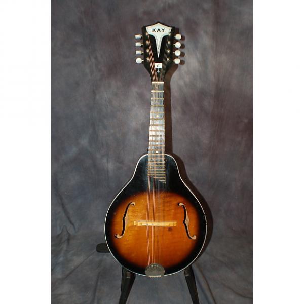 Custom Kay Model K464 Archtop Mandolin Neck Reset Great Action Original Softshell Case 1960's Sunburst #1 image