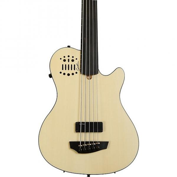 Custom Godin A5 Ultra - 5 string Natural Fretless #1 image
