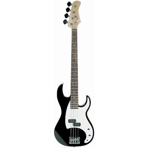 Custom J. Reynolds JR7 4-String Electric Bass Guitar - Black Finish #1 image