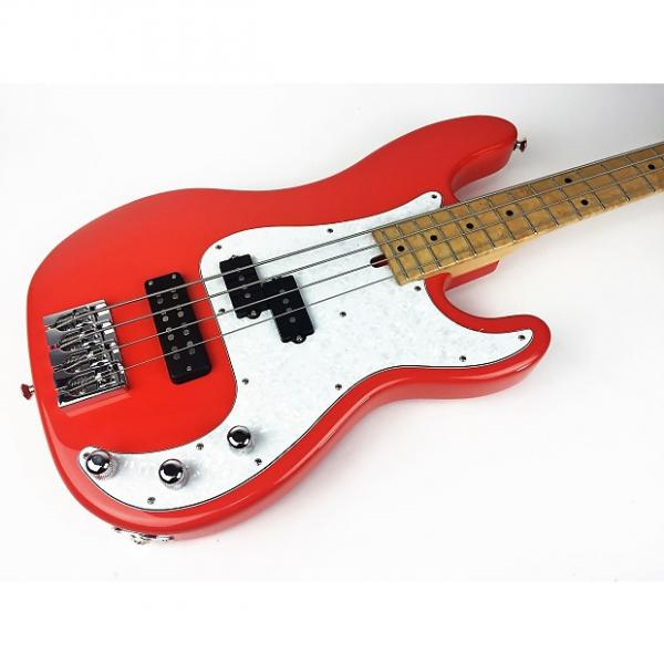 Custom Mike Lull PJ 4 2016 Bass Shop Orange #1 image