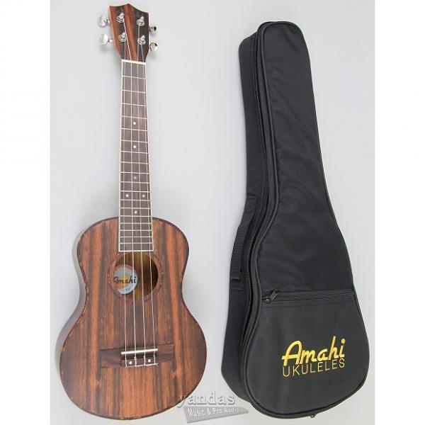 Custom Amahi UK990 Classic Ebony Wood Ukulele - Tenor #1 image