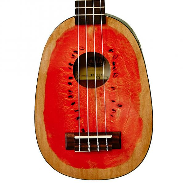 Custom Kala KA-WTML Silk-Screen Watermelon Mahogany Soprano Ukulele #1 image