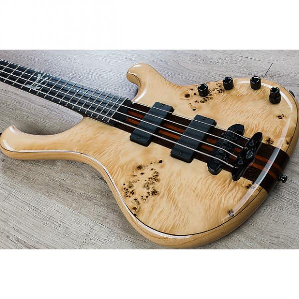 Custom Mayones Custom PI 4 Wojtek Pilichowski Signature Electric Bass w/ Eye Poplar Top Transparent Natural #1 image
