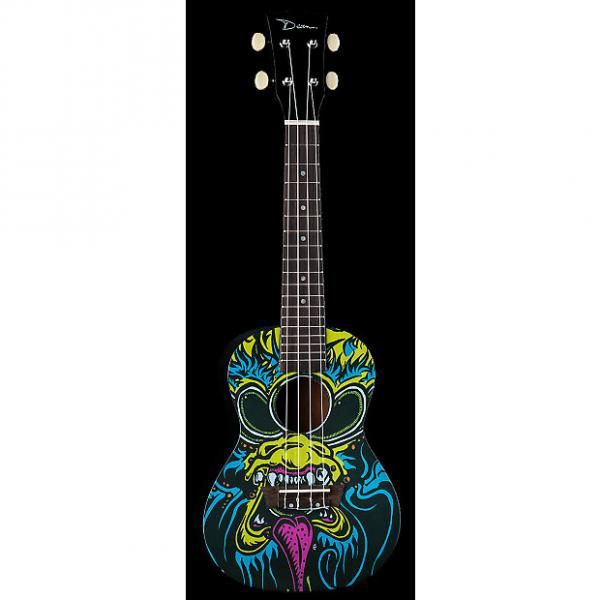 Custom Dean Ukulele Concert Oni Graphic Black NEW UKE #1 image