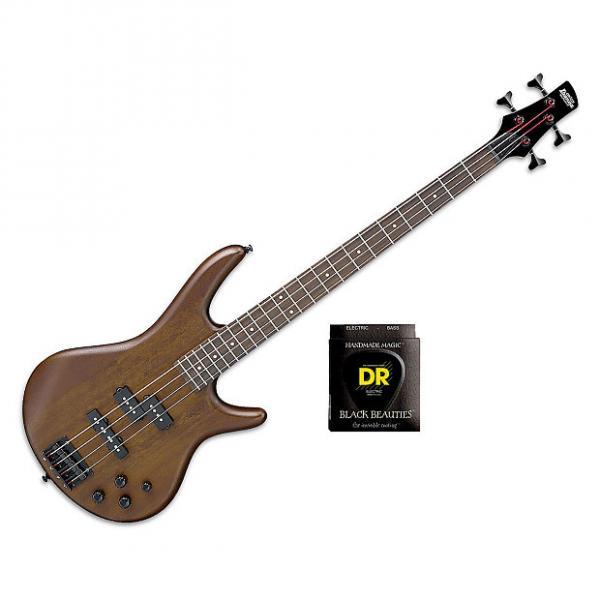 Custom Ibanez GSR200B GSR Series  - Walnut Flat w/Set DR Strings BKB45 #1 image