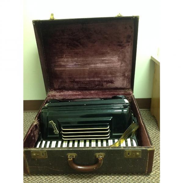 "Custom Pancordion  Crucianelli 19"" Accordion  With Case LMH  1950's 1960's  Black #1 image"