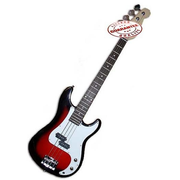 Custom Electric Bass Guitar with Bag, Strap and Tuner, Cherryburst #1 image