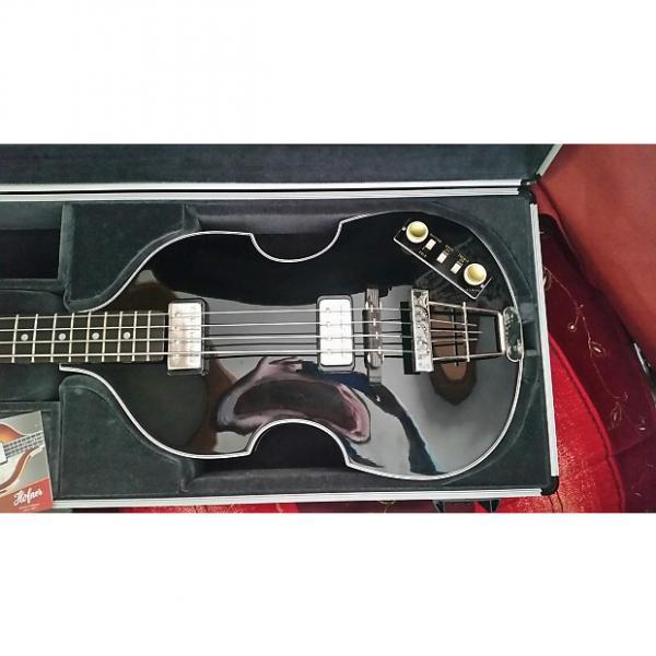 Custom Hofner  Gold Label Violin Bass  Ebony #1 image