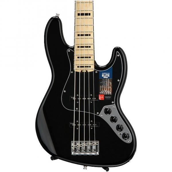 Custom Fender American Elite Jazz Bass V - Black, Maple Fingerboard #1 image
