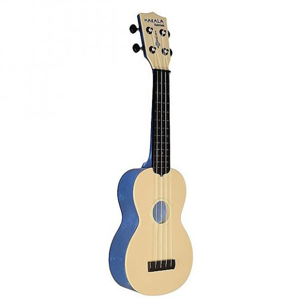 Custom Makala Waterman Soprano Ukulele, Blue Transparent #1 image