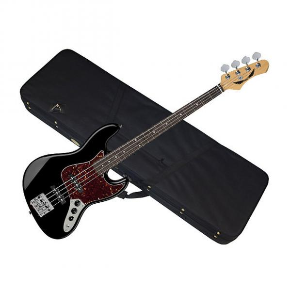 Custom DEAN Juggernaut 4 string BASS guitar NEW Black w/ LIGHT CASE - Rosewood #1 image