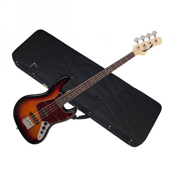 Custom DEAN Juggernaut 4 string BASS guitar Tobacco Sunburst w/ LIGHT CASE - Rosewood #1 image