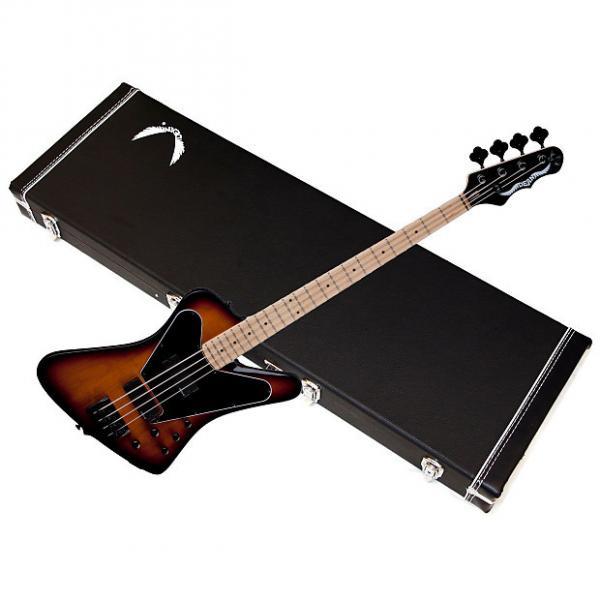 Custom DEAN John Entwistle HYBRID 4-string BASS guitar NEW Trans Brazilia w/ HARD CASE #1 image