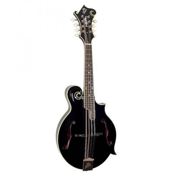 Custom The Loar LM-600 Professional Series Mandolin, Black #1 image