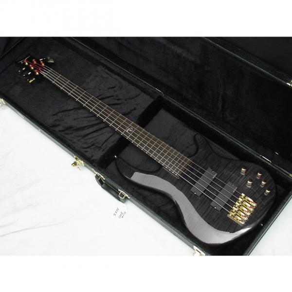 Custom DEAN Edge Pro 5-string BASS guitar Trans Black NEW with FREE HARD CASE #1 image