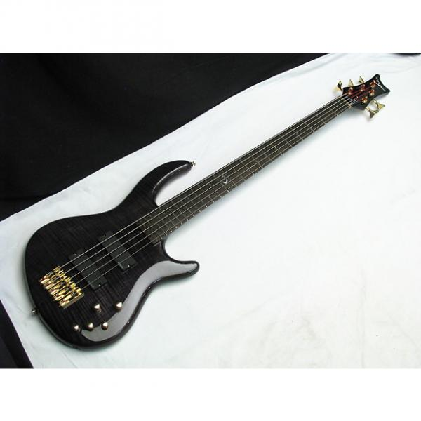 Custom DEAN Edge Pro 5-string BASS guitar Trans Black NEW - Flame Maple #1 image